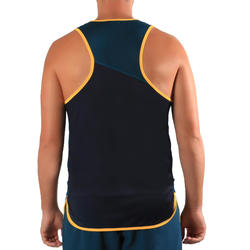 Beachvolleybalshirt mouwloos heren BVT500 groen/geel