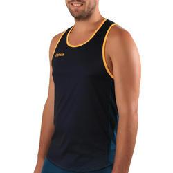 Beachvolleybalshirt heren BVT500 groen/geel
