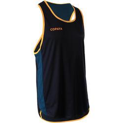 T-shirt Sem Mangas de Voleibol de Praia Homem BVT500 Verde e Amarelo