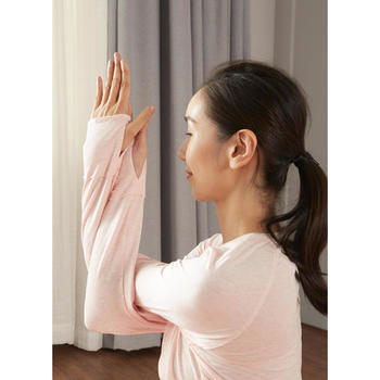 長袖舒緩瑜珈T恤 - 粉色