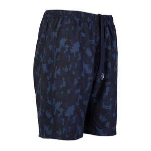 Men's Zip-Pocket Fitness Short With Mesh - Blue Camo