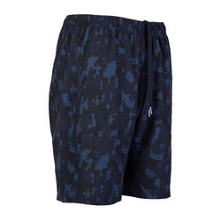 Men's Zip-Pocket Fitness Short With Mesh - Blue Camo