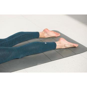 Seamless 7/8 Yoga Leggings - Grey/Dark Blue