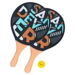Conjunto de raquetes de Ténis de Praia Woody Racket Sand Oro