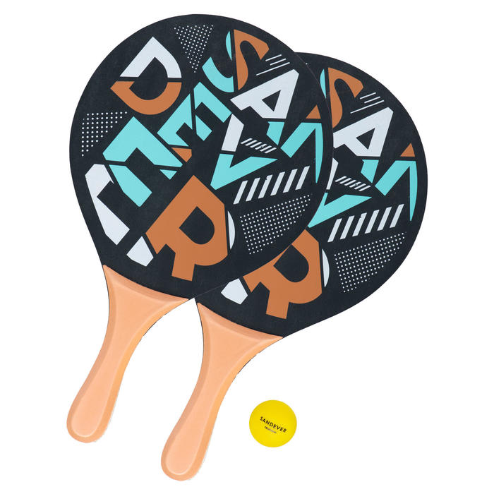 Set raquettes Beach Tennis Woody Racket Sand Oro