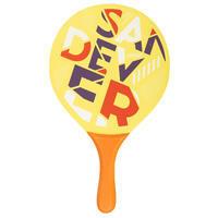 Beach Tennis Bat Set Woody Sand - Yellow