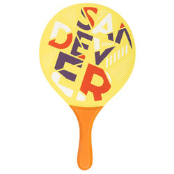Set raquettes Beach Tennis Woody Racket Sand Yellow