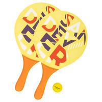 סט מחבטי טניס חופים דגם Woody Sand – צהוב