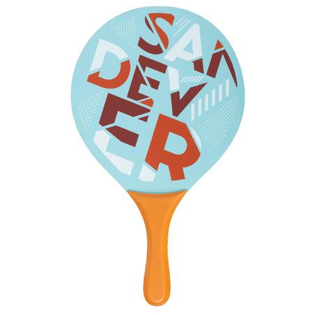Set Palas Tenis Playa Sandever Woody Rackets Azul