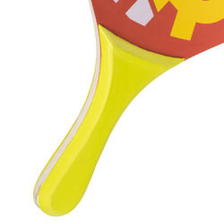 Beachtennis set Woody rackets rood