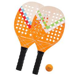 Conjunto de raquetes de Ténis de Praia Experience Amarelo