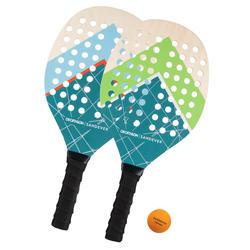 Conjunto de raquetes de Ténis de Praia Experience Azul