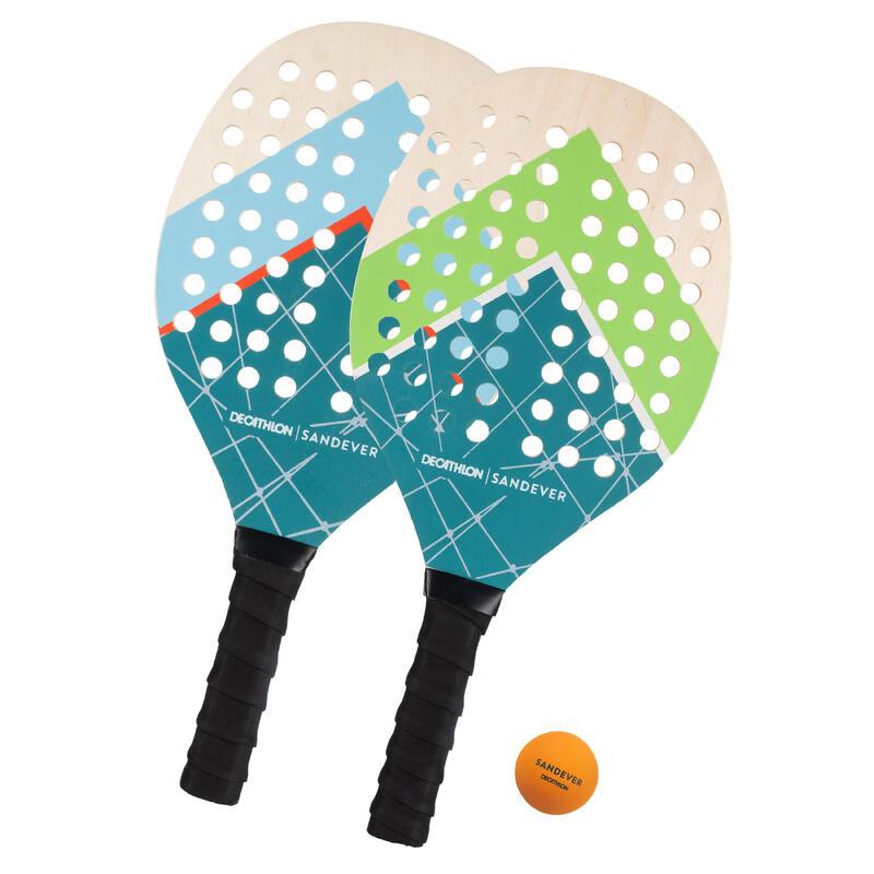Kit racchette beach tennis EXPERIENCE azzurro