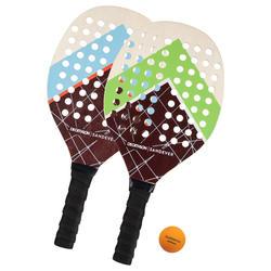 Conjunto de raquetes de Ténis de Praia Experience Vermelho