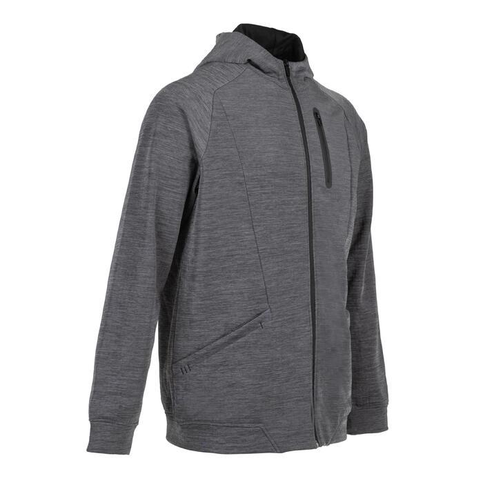 戶外健身外套520-刷色灰