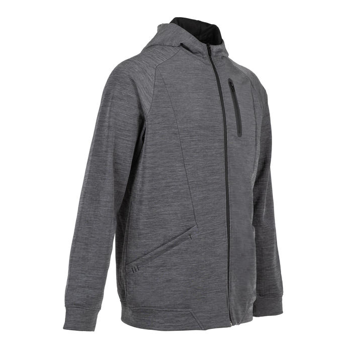 Outdoor Fitness Jacket 520 - Mottled Grey