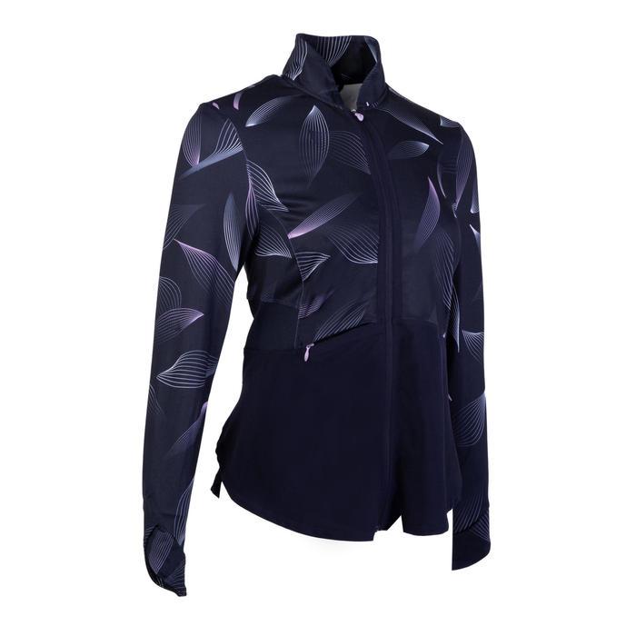 Women's Fitness Cardio Training Jacket 500 - Navy Blue/Print