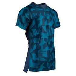 男款有氧健身訓練T恤FTS 500-迷彩藍