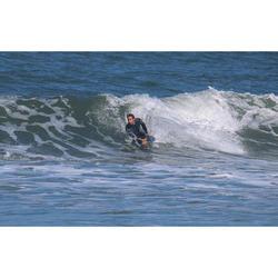 Bodyboard 500 bleu kaki avec leash biceps