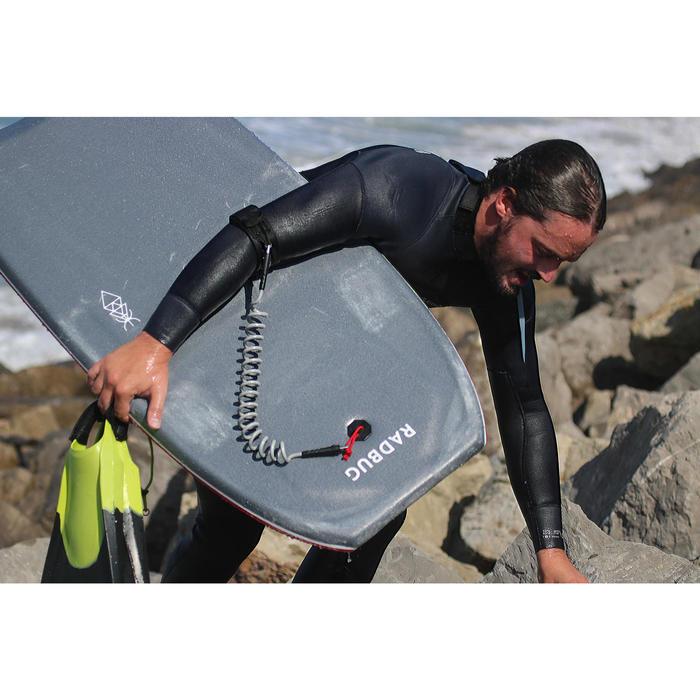 Leash biceps bodyboard 500 grijs met plug