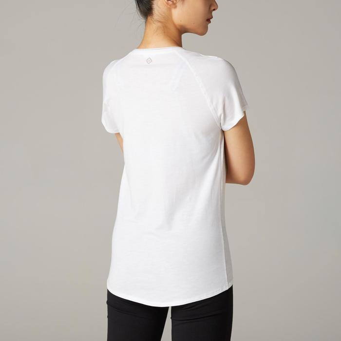 女款舒緩瑜珈有機棉T恤 - 白色