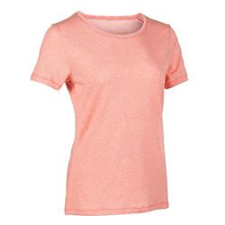 Women's Regular-Fit Pilates & Gentle Gym T-Shirt 510 - Orange