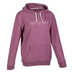 女款訓練運動衫500 - 紫色
