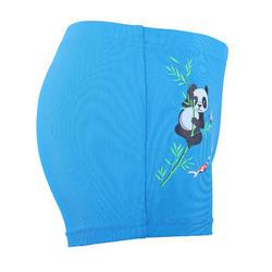 男嬰款四角泳褲 - 藍色熊貓印花