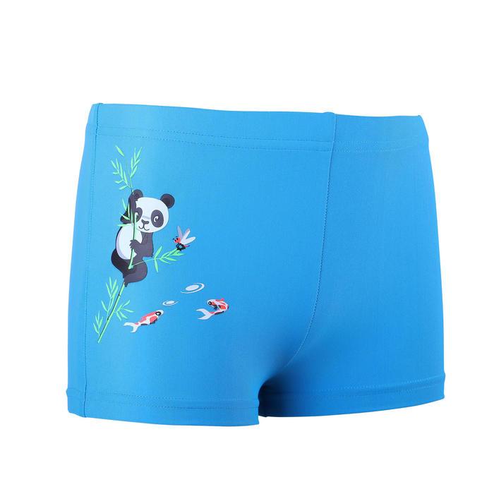 Baby Boys' Boxer Swim Shorts - Panda Print Blue