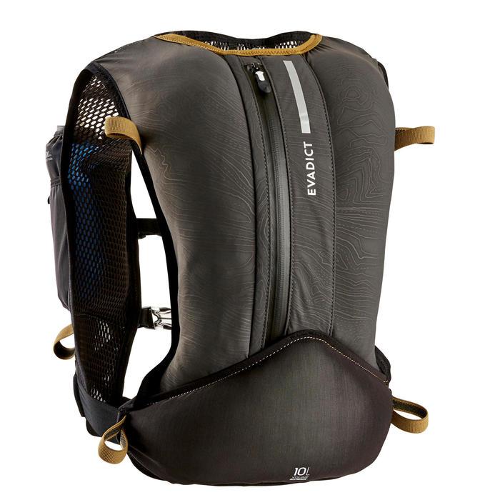 Trailrugzak uniseks 10 liter zwart/brons