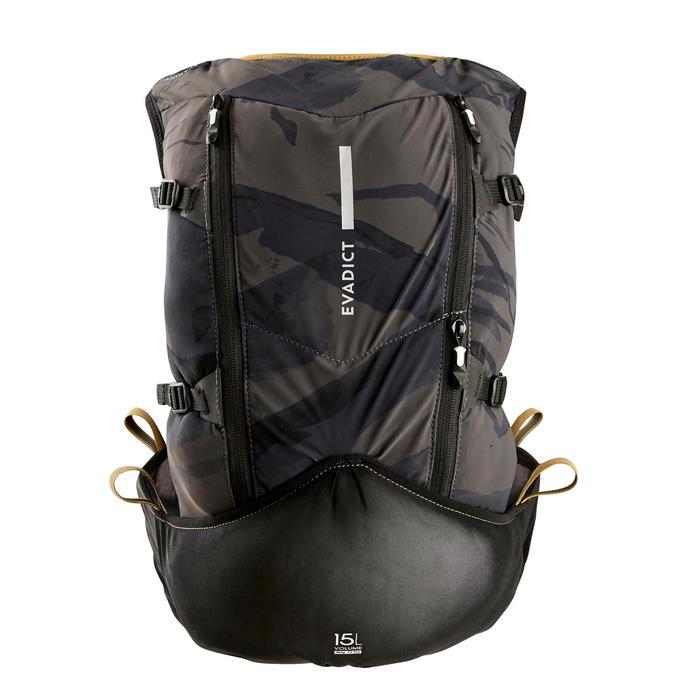 Ultratrailrugzak uniseks 15 liter zwart/brons