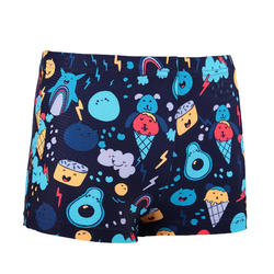 Baby Boys' Boxer Swim Shorts - Dark Blue Print