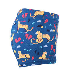 男嬰款四角泳褲 - 藍色印花