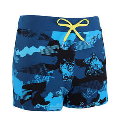 MEN'S SWIMMING BOXER SHORTS 100 - PEP CAMO BLUE