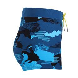 MEN'S SWIMMING BOXER SHORTS 100 - PEP CAMO BLUE