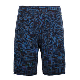 Men swimming shorts long - Printed Black blue