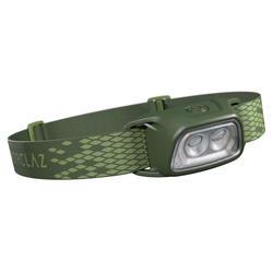 Lampe frontale de trekking rechargeable - TREK 100 USB verte - 120 lumens