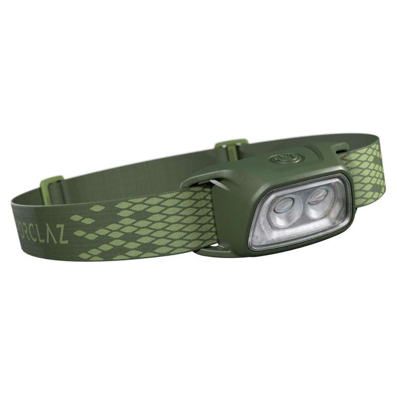 Stirnlampen, Taschenlampen Trekking & Wandern Wandern - Stirnlampe TREK 100 USB grün FORCLAZ - Wanderausrüstung