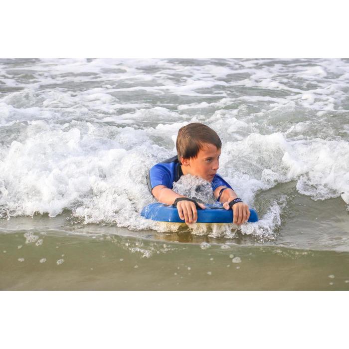 Handplane plaquette Bodysurf Discovery bleu jaune