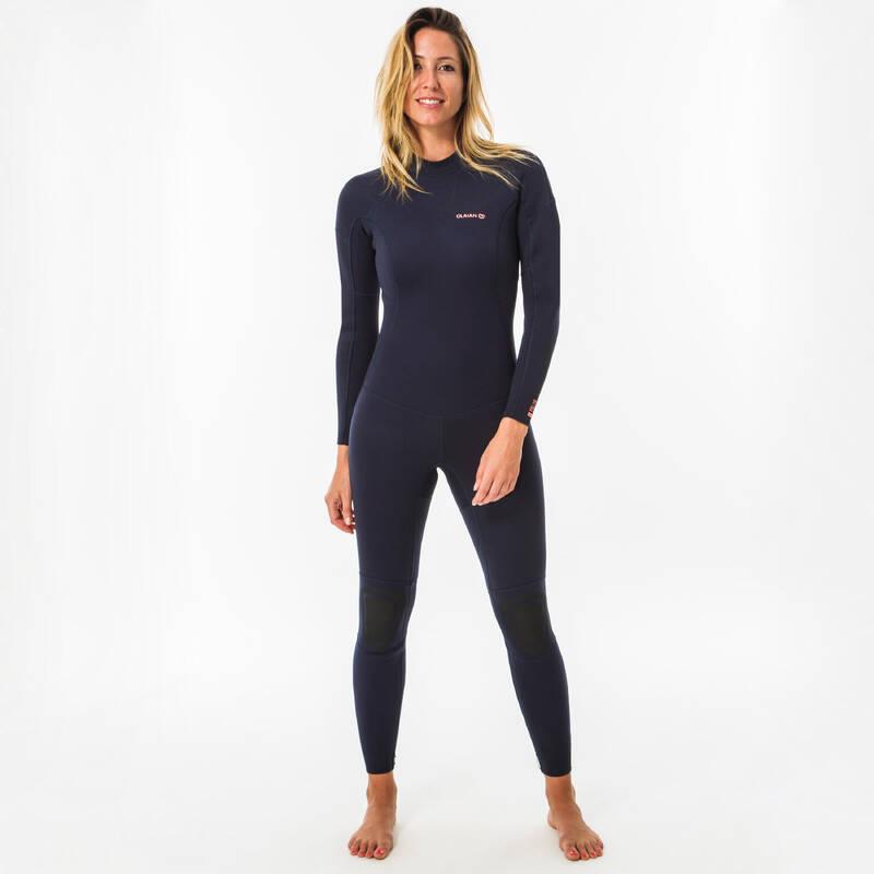 TEMPERED WATER WETSUIT SURFING, BODYBOARDING - DÁMSKA KOMBINÉZA NA SURF 100 OLAIAN - NEOPRÉNY NA SURFOVANIE