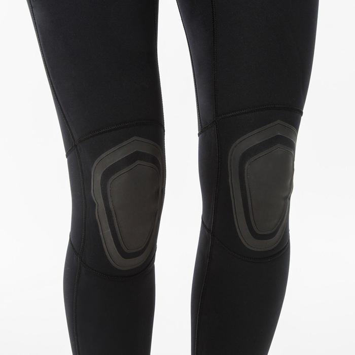 Wetsuit voor surfen dames 100 neopreen 4/3 mm rugrits zwart