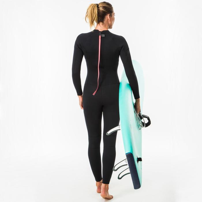 Wetsuit dames 4/3 mm 100 back zip zwart