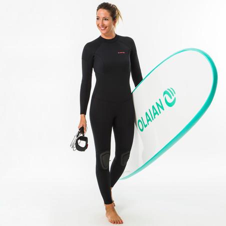 Neopreno Surf Mujer Olaian 100 Negro 4/3 mm.