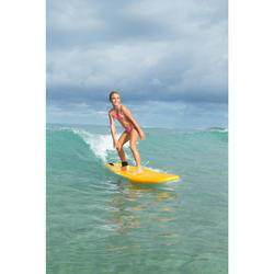 CULOTTE ET HAUT DE MAILLOT DE BAIN SURF FILLE TRIANGLE ROSE PASTEL TALOO 100