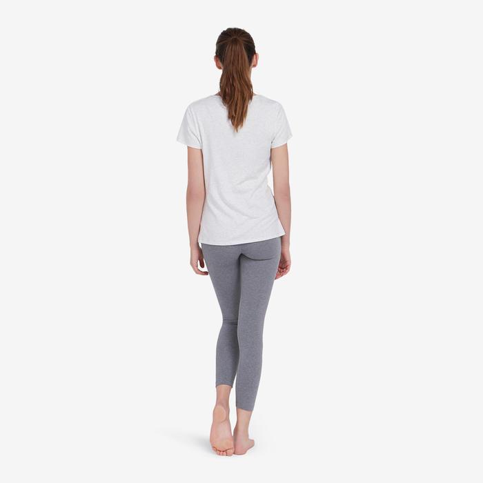 Legging de Sport 7/8 500 Femme Gris Chiné