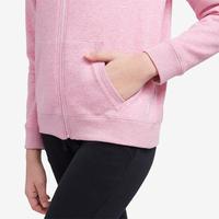 Жіноча кофта 500 з капюшоном для пілатесу та гімнастики - Рожева