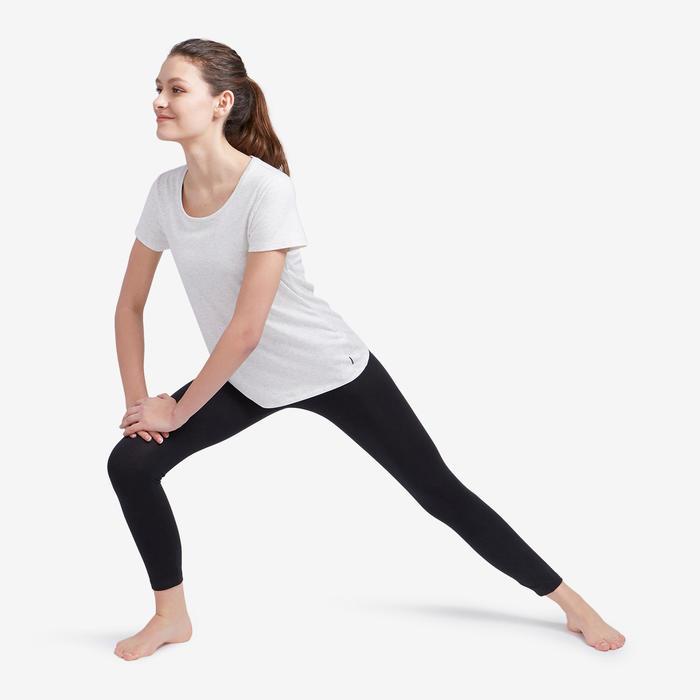 Legging 7/8 Coton Fitness Fit+ court Noir