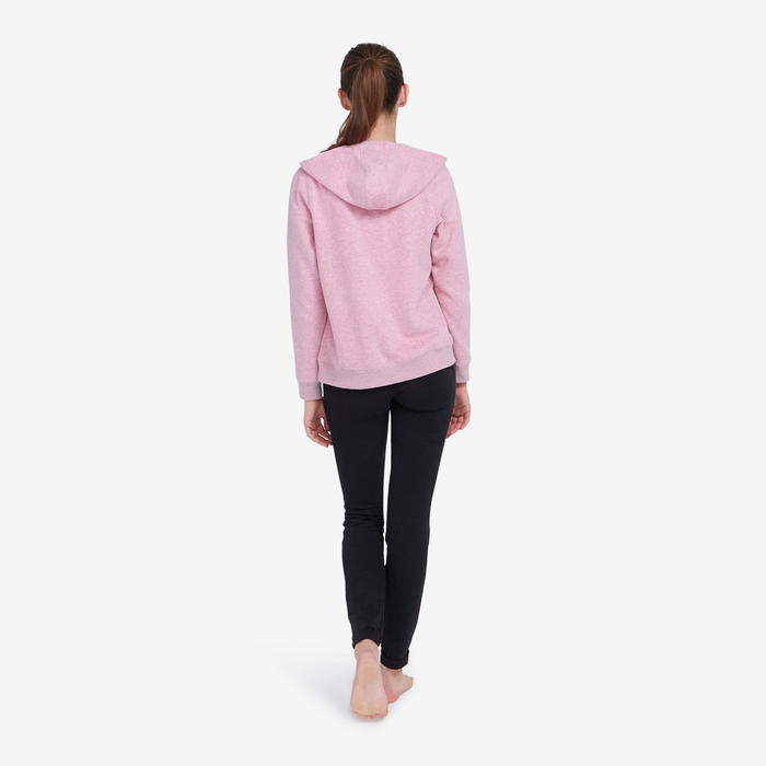 Veste à capuche femme 500 rose