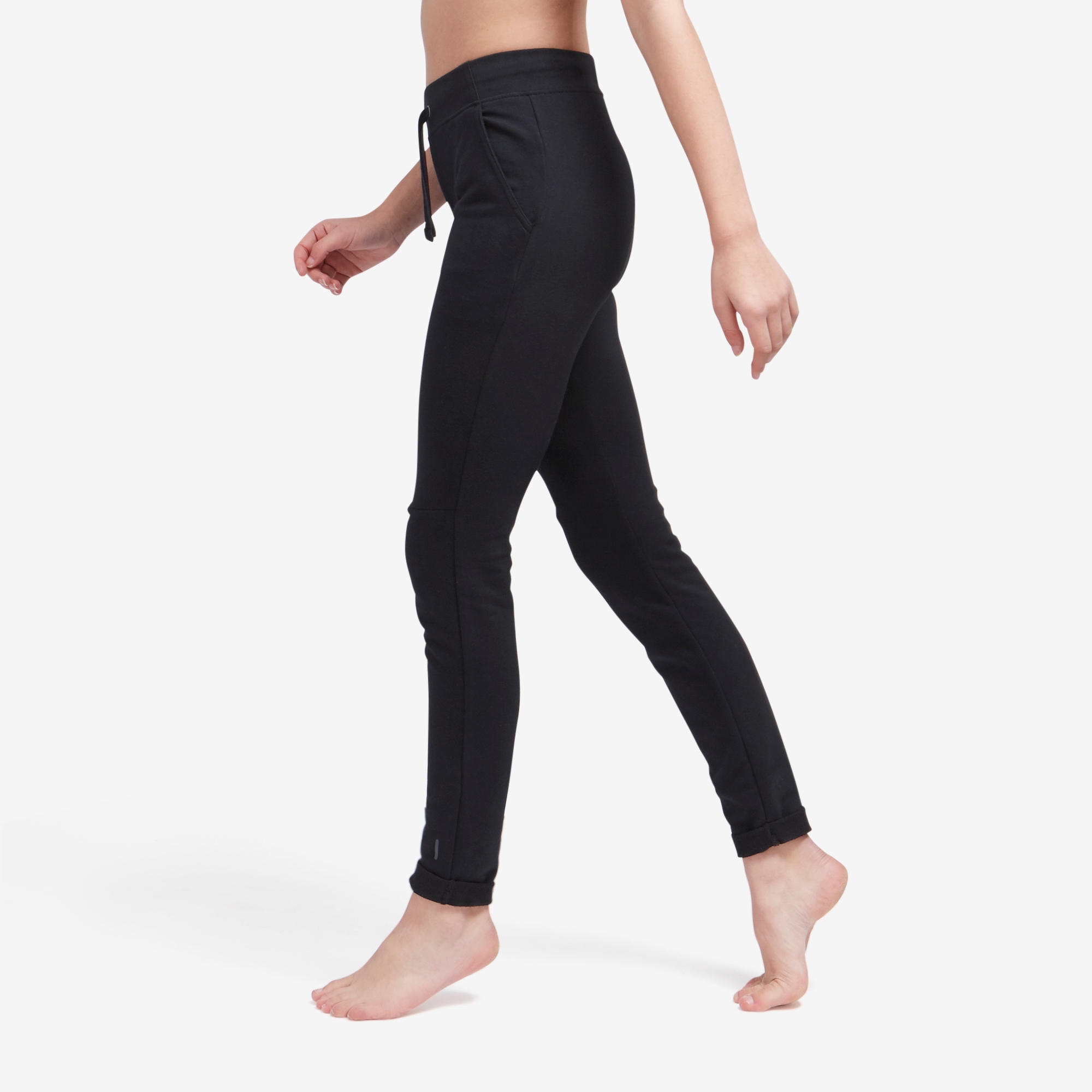 Pantalon Slim 500 negru damă imagine