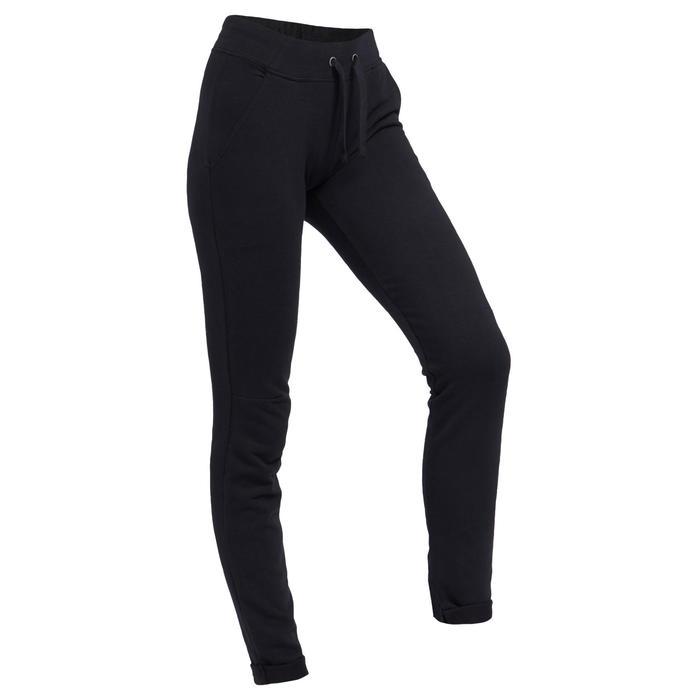 Pantalon de Jogging Slim 500 Femme Noir